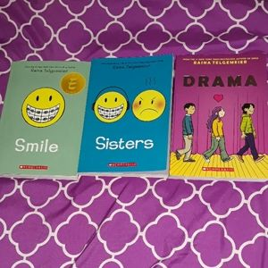 3 graphic novels by Raina Telgemeier for kids